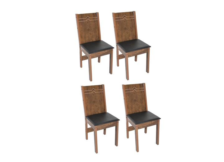 Conjunto Com 4 Cadeiras Elane