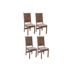 Conjunto Com 4 Cadeiras Mariah