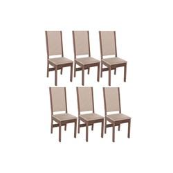 Conjunto Com 6 Cadeiras Barcelona