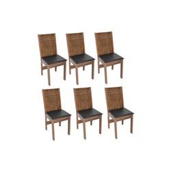 Conjunto Com 6 Cadeiras Elane