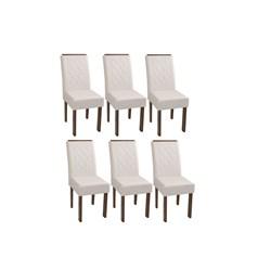 Conjunto Com 6 Cadeiras Florença