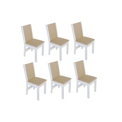 Conjunto Com 6 Cadeiras Nobre