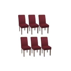 Conjunto Com 6 Cadeiras Nova Romana