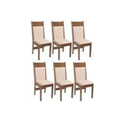 Conjunto Com 6 Cadeiras Priscilla