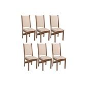 Produto Conjunto Com 6 Cadeiras Rosa