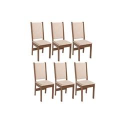 Conjunto Com 6 Cadeiras Rosa