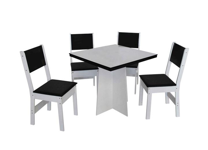 Conjunto De Mesa Quadrada Destak Com 04 Cadeiras
