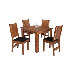 Conjunto De Mesa Quadrada Mariah Com 04 Cadeiras