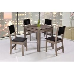 Conjunto De Mesa Quadrada Nova Milena Com 04 Cadeiras