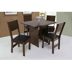 Conjunto De Mesa Retangular Destak Com 04 Cadeiras