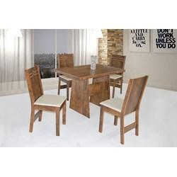 Conjunto De Mesa Retangular Destak Com 04 Cadeiras Elane Fosca