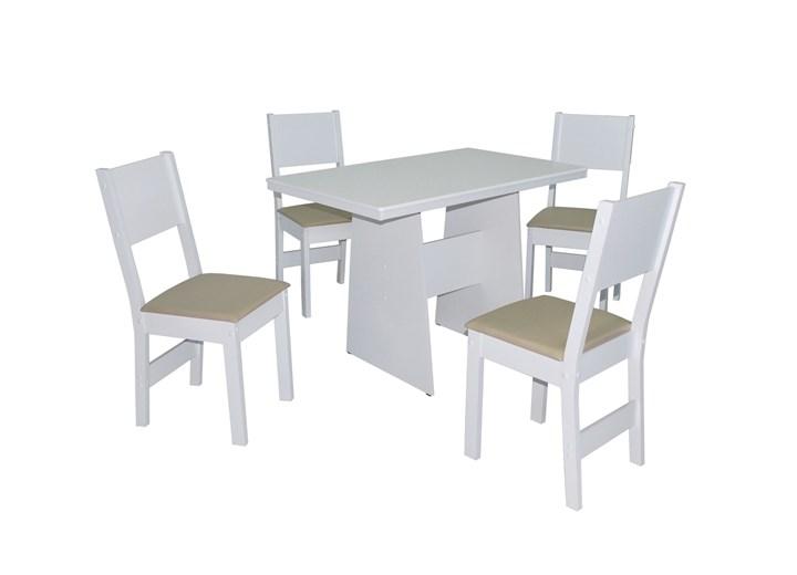 Conjunto De Mesa Retangular Destak Com 04 Cadeiras Milena Fosca