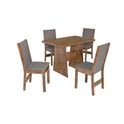 Conjunto De Mesa Retangular Destak Com 04 Cadeiras Nobre Fosca