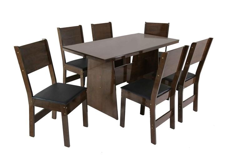 Conjunto De Mesa Retangular Destak Com 06 Cadeiras