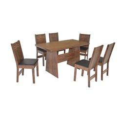 Conjunto De Mesa Retangular Destak Com 06 Cadeiras Elane Fosca