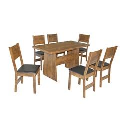 Conjunto De Mesa Retangular Destak Com 06 Cadeiras Milena Fosca