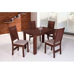 Conjunto De Mesa Retangular Mariah Com 04 Cadeiras