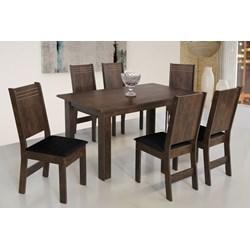 Conjunto De Mesa Retangular Mariah Com 06 Cadeiras