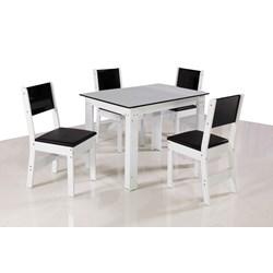 Conjunto De Mesa Retangular Nova Milena Com 04 Cadeiras