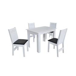 Conjunto De Mesa Retangular Nova Milena Com 04 Cadeiras Elane Fosca
