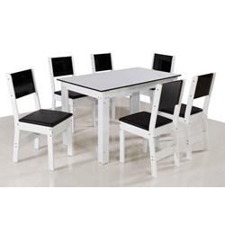 Conjunto De Mesa Retangular Nova Milena Com 06 Cadeiras