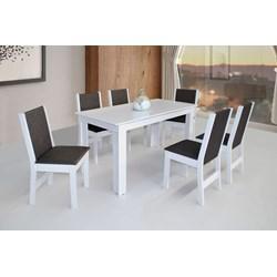 Conjunto De Mesa Retangular Nova Milena Com 06 Cadeiras Nobre Fosca