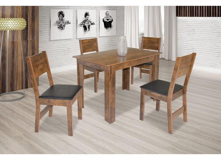 Conjunto De Mesa Retangular Nova Milena Fosca Com 04 Cadeiras