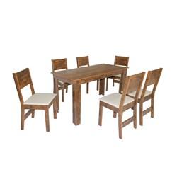 Conjunto De Mesa Retangular Nova Milena Fosca Com 06 Cadeiras