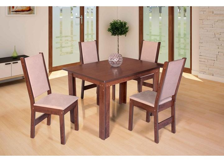 Conjunto De Mesa Retangular Rosa Com 04 Cadeiras
