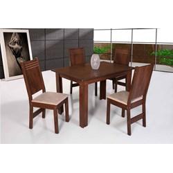 Conjunto Mesa Retangular Mariah Com 04 Cadeiras - São Carlos