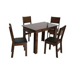 Conjunto Mesa Retangular Nova Milena Com 04 Cadeiras - São Carlos