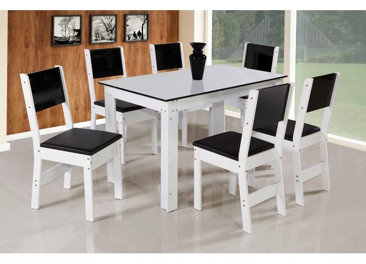 Conjunto Mesa Retangular Nova Milena Com 06 Cadeiras - São Carlos